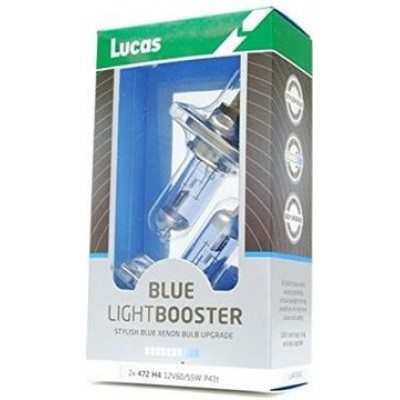 LUCAS 2x H4 12V 60/55W P43t Blue Light Booster - 2ks