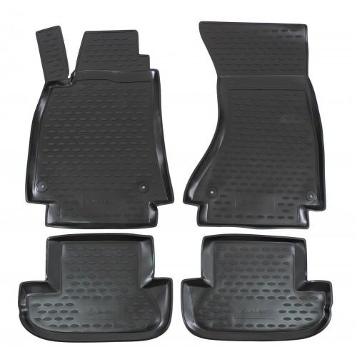 3D Autorohože gumové s vysokým okrajom Audi A5 od 2007-> 4ks