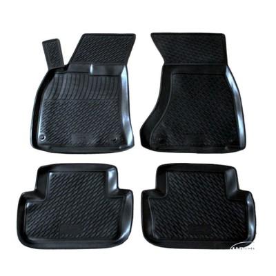 3D Autorohože gumové s vysokým okrajom Audi A4 B6/B7 11/2000 - 10/2007 4  ks