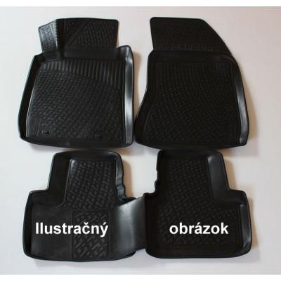 3D Autorohože gumové s vysokým okrajom Audi Q3 2011 a novšie 4 ks