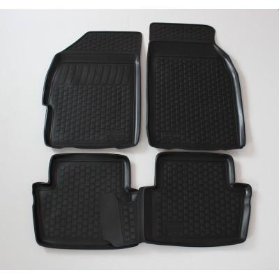 3D Autorohože gumové s vysokým okrajom Chevrolet Spark II 2010 a novšie   4 ks