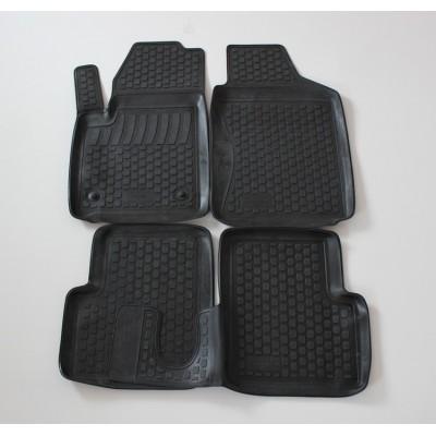 3D Autorohože gumové s vysokým okrajom Fiat 500 2007 a novšie 4 ks
