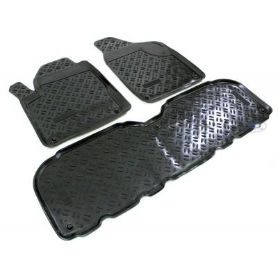 3D Autorohože gumové s vysokým okrajom Seat Alhambra 2000-2010 sada 3ks