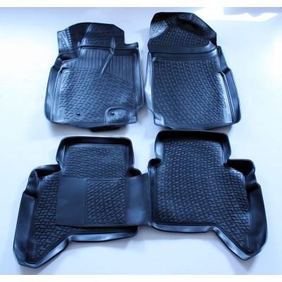 3D Autorohože gumové s vysokým okrajom Ford Ranger 2006-2012 4 ks