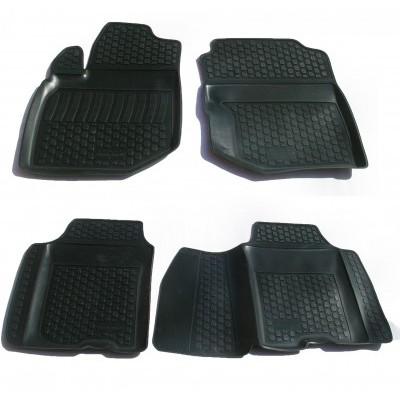 3D Autorohože gumové s vysokým okrajom Honda Jazz II  2008 a novšie   4 ks