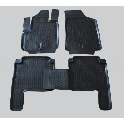 3D Autorohože gumové s vysokým okrajom Hyundai Santa Fe II  2006-2012   4 ks