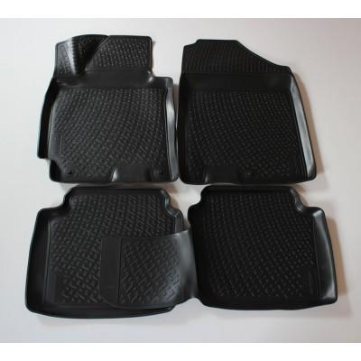3D Autorohože gumové s vysokým okrajom Hyundai Elantra 2011 a novšie 4 ks