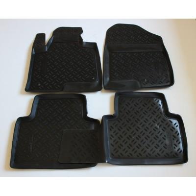 3D Autorohože gumové s vysokým okrajom Hyundai Santa Fe III  2013 a novšie 4 ks