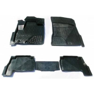 3D Autorohože gumové s vysokým okrajom Kia Sorento II 2009 a novšie   4 ks