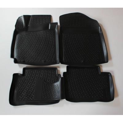 3D Autorohože gumové s vysokým okrajom Kia Picanto 201 a novšie 4 ks