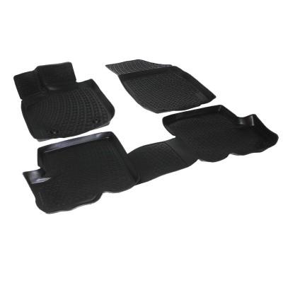 3D Autorohože gumové s vysokým okrajom Nissan Navara 2005 a novšie   4 ks