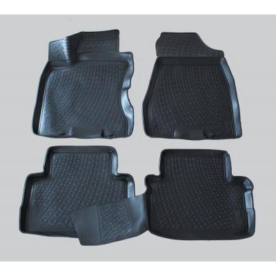 3D Autorohože gumové s vysokým okrajom Nissan X-Trail II  2007-2014   4 ks