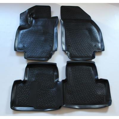 3D Autorohože gumové s vysokým okrajom Opel Meriva B 2010 a novšie 4 ks