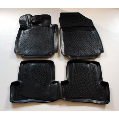 3D Autorohože gumové s vysokým okrajom Renault Clio III / Grantour 2009-2013 4 ks