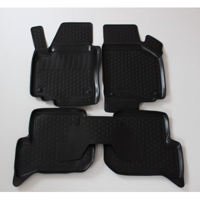 3D Autorohože gumové s vysokým okrajom Seat Leon II 2005-2012   4 ks