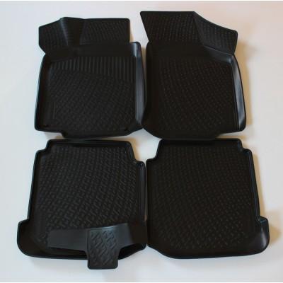 3D Autorohože gumové s vysokým okrajom Volkswagen Bora rok 1998-2006 sada 4ks