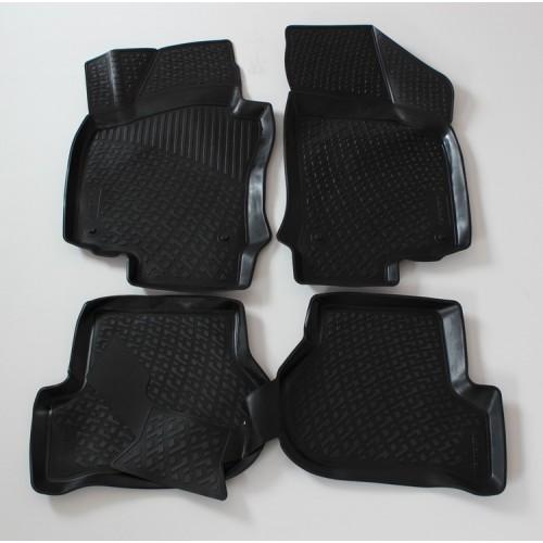 3D Autorohože gumové s vysokým okrajom Volkswagen Golf VI 2008-2014 sada 4ks