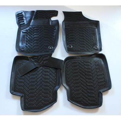 3D Autorohože gumové s vysokým okrajom Skoda Rapid 2012  a novšie 4 ks
