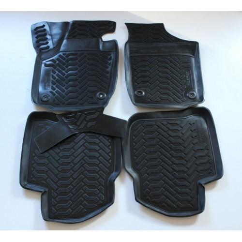 3D Autorohože gumové s vysokým okrajom Seat Toledo 2012 a novšie 4 ks