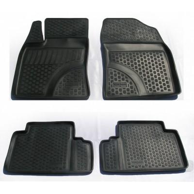 3D Autorohože gumové s vysokým okrajom Toyota Avensis 2009 a novšie   3 ks