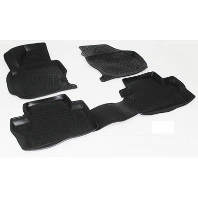 3D Autorohože gumové s vysokým okrajom Volvo V70 III / XC70 III 2007 a novšie   4 ks
