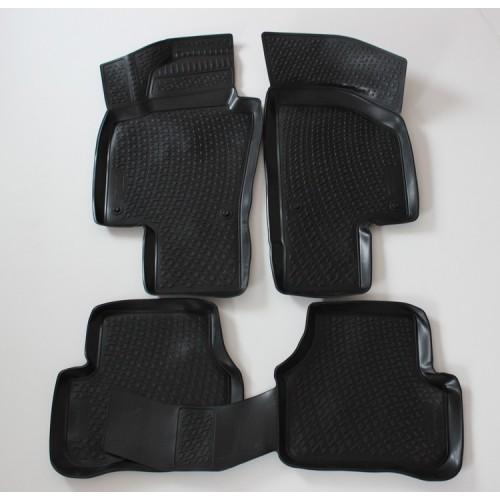 3D Autorohože gumové s vysokým okrajom Volkswagen Passat B7 rok 2005-2015 4ks