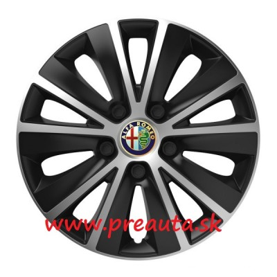 "Puklice Alfa Romeo 15"" RAPIDE silver and black sada 4ks"