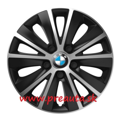 "Puklice BMW 13"" RAPIDE silver and black sada 4ks"