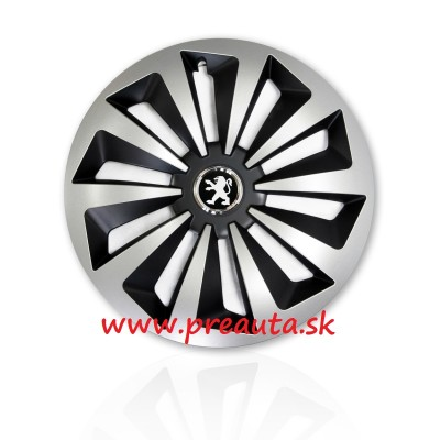 "Puklice Peugeot 15"" Fox Ring Mix sada 4ks"