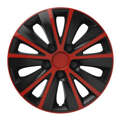 "Puklice 13"" RAPIDE red and black sada 4ks"