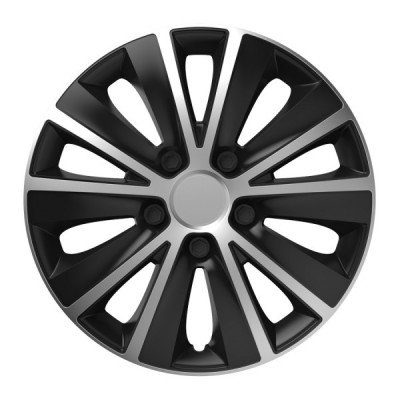 "Puklice 16"" RAPIDE silver and black sada 4ks"