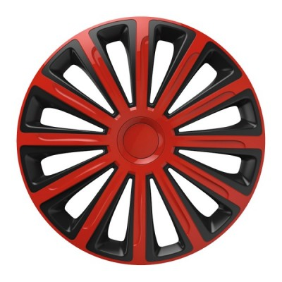 "Puklice 13"" TREND red and black sada 4ks"