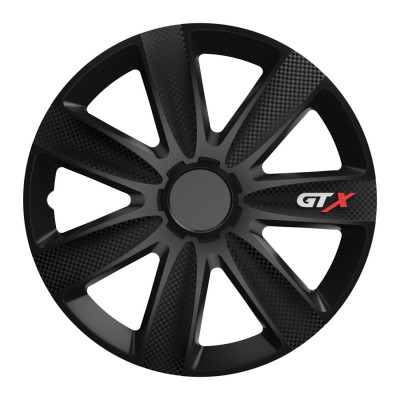 "Puklice 13"" GTX CARBON black sada 4ks"