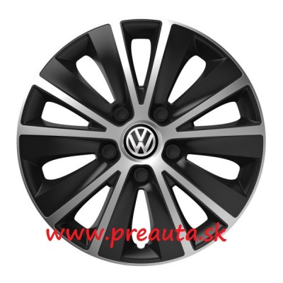 "Puklice VW 13"" RAPIDE silver and black sada 4ks - čierny znak"