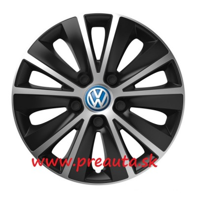 "Puklice VW 13"" RAPIDE silver and black sada 4ks - modrý znak"