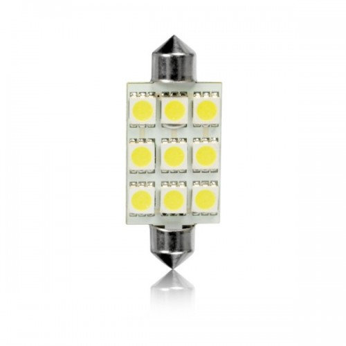 Žiarovka FESTOON 9LED-5050SMD-T11x44mm 1ks