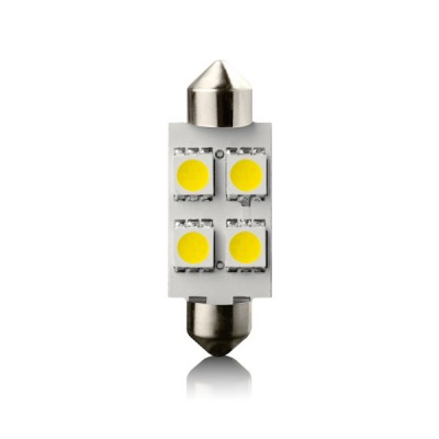 Žiarovka LED SV8.5 4 WHITE 12V 39mm 1ks