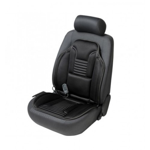 Walser autopoťah sedadla masážny + vyhrievaný Relax čierny