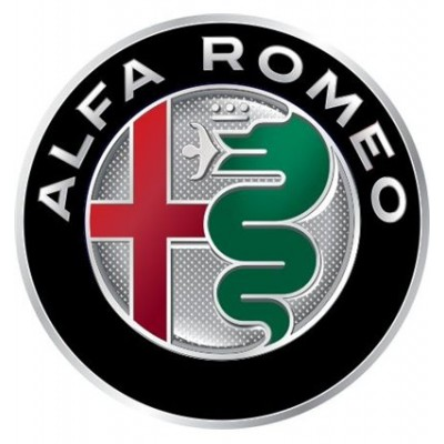 4CARS 3D CAR LOGO ALFA ROMEO - 50mm