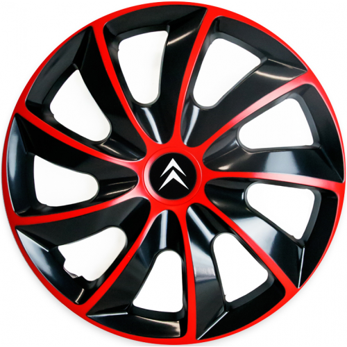 "PUKLICE PRE CITROEN 15"" QUAD red/black 4ks"