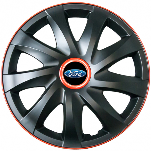"PUKLICE PRE FORD 16"" KANDO race/black 4ks"