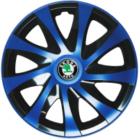 "PUKLICE PRE SKODA GREEN 14"" DRACO blue/black 4ks"