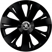 "PUKLICE PRE SKODA GREY 14"" ENERGY black 4ks"
