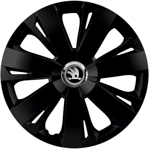 "PUKLICE PRE SKODA GREY 16"" ENERGY black 4ks"
