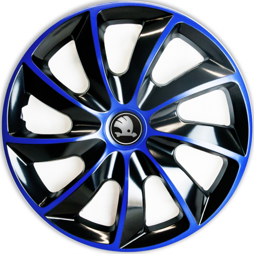 "PUKLICE PRE SKODA GREY 17"" QUAD blue/black 4ks"